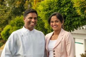Varathan mit Ehefrau Tharanie. Foto: René Lang.