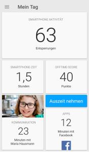 Die App hält einem unerbittlich den Spiegel vor.