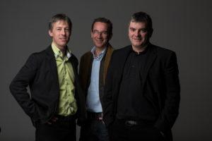 Die drei Softcar-Gründer François Vuille, Marc Frehner und Jean-Luc Thuliez.