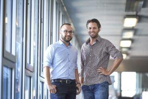 Roman Schmidt (links) und Kaspar Riesen, die Erfinder der Sketch-ID. Foto: Adrian Moser