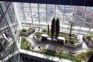 Skygärten im 39. Stock des Norman Foster Commerzbank Towers in Frankfurt.