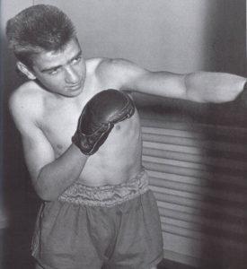 Der junge Werner Kieser beim Boxen.