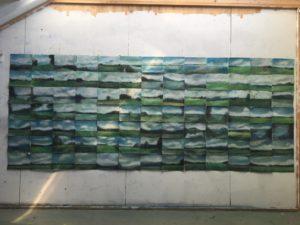 Reiseeindrücke werden im Atelier zu Landschaftsgemälden.