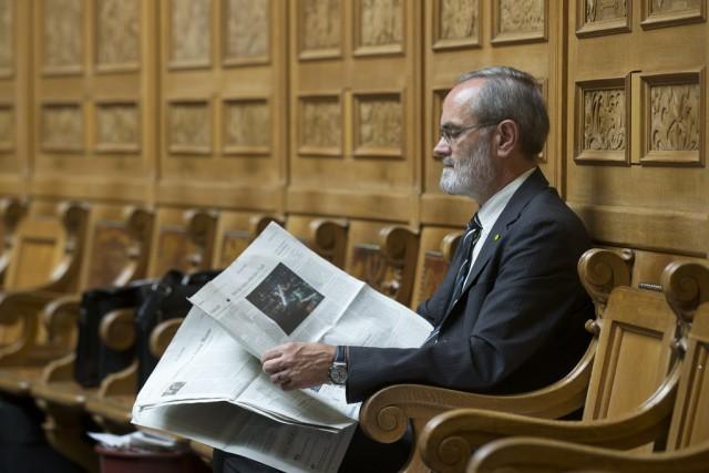 Journalisten schreiben kaum über Thomas Weibel (GLP). Bild: Keystone/Peter Klaunzer