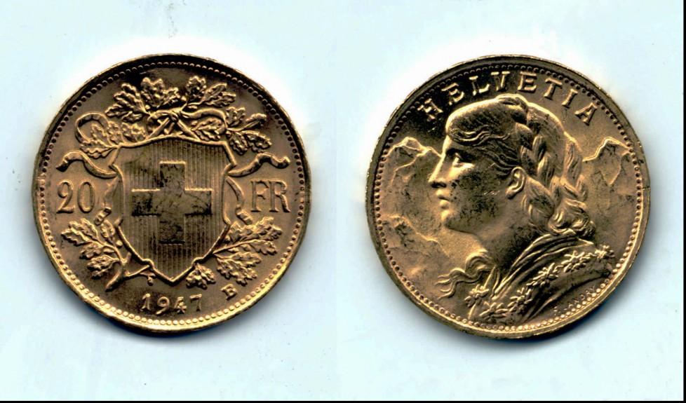 Goldvreneli: Aufpreis inbegriffen, dafür haben Sie die Münzen physich zur Verfügung. Foto: Keystone