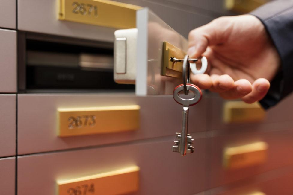 Schliessfach in einer Bank: Diskretion ist zugesagt, ein Restrisiko bleibt immer. Foto Keystone