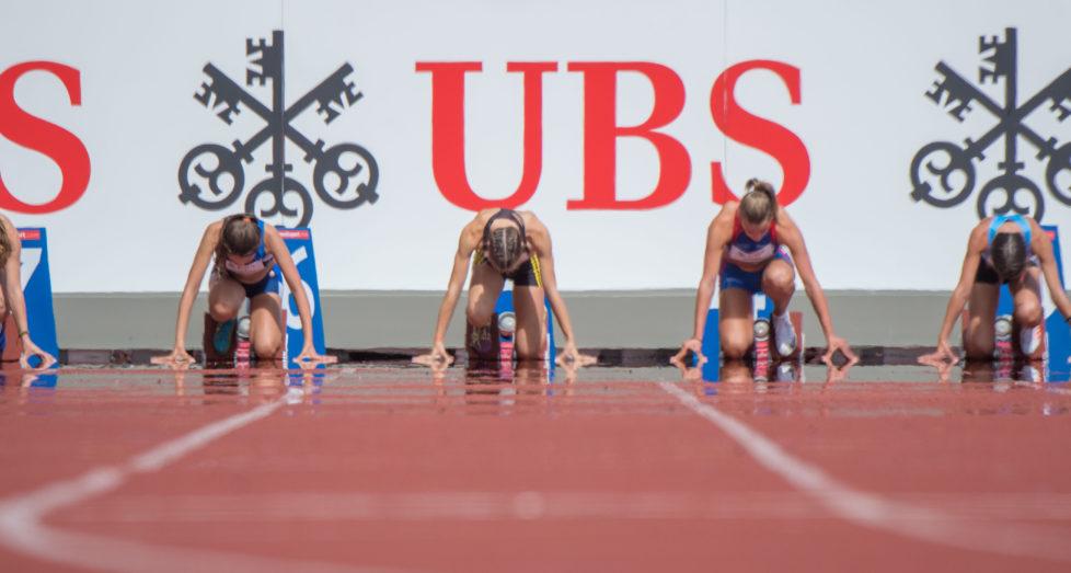 Der UBS Kids Cup Schweizer Final im Letzigrund Zuerich wird durch Weltklasse Zuerich organisiert und von UBS sowie weiteren Sponsoren ermoeglicht. (PPR/Erwin Zueger)