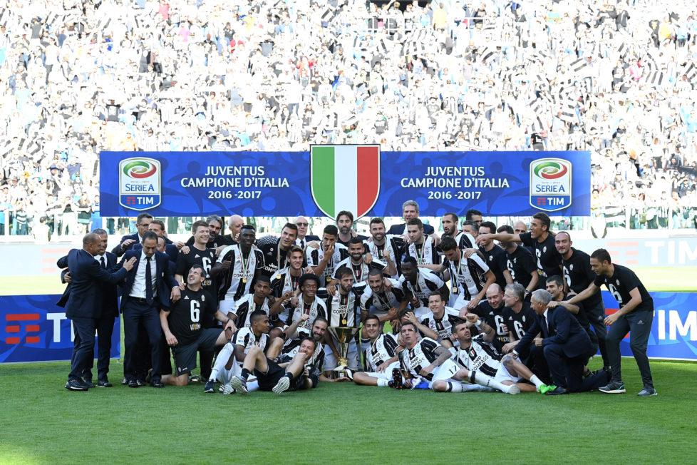Erfolgreich: Juventus Turin feiert im Mai 2017 seinen 33. italienischen Meistertitel. Foto: Valerio Pennicino/Getty Images