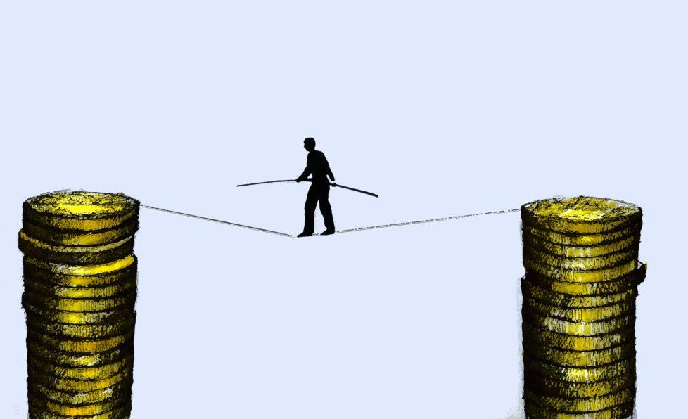 Flexibles Anlegen: In wirtschaftlich guten Zeiten lohnt es sich, mit mehr Risiko zu investieren. Foto: Getty Images