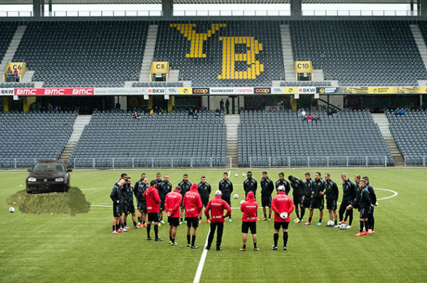 Erstes Training des BSC Young Boys auf Kunstrasen. © Adrian Moser