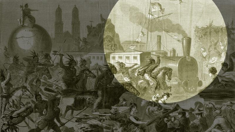 Technik und fremde Völker: Holzstichdes Sechseläutens von 1870 (Bild: ZB Zürich   Public Domain)