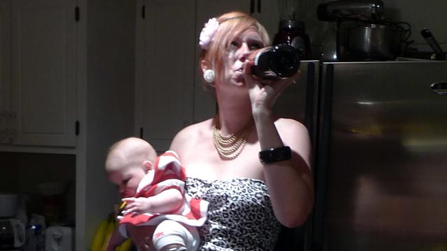 Besoffene Mutter