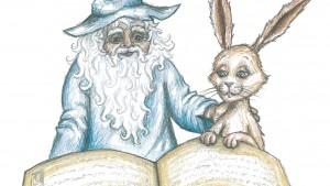 Fauler Zauber? Onkel Sandmann zückt für Besucher Konrad sein Buch.