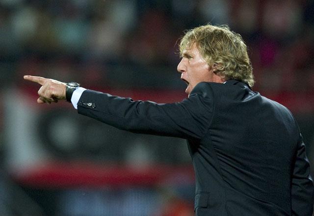 Gertjan Verbeek bei einem Spiel in Alkmaar. (Reuters)