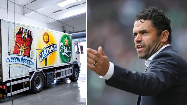 Uli Forte verspricht St. Gallen einen Lastwagen Bier. (Keystone)
