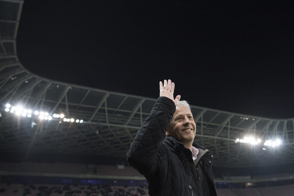 Erfolgsverwöhnt: Lucien Favre in Nizza. Foto: Jean-Christophe Bott (Keystone)