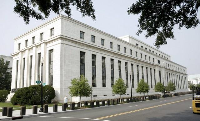 Die US-Notenbank in Washington DC, August 2007. (Keystone/Matthew Cavanaugh)