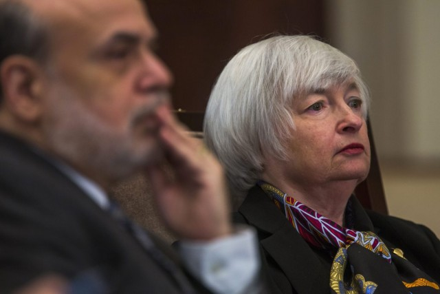 Bernanke and Yellen Attend Board Meeting At Federal Reserve