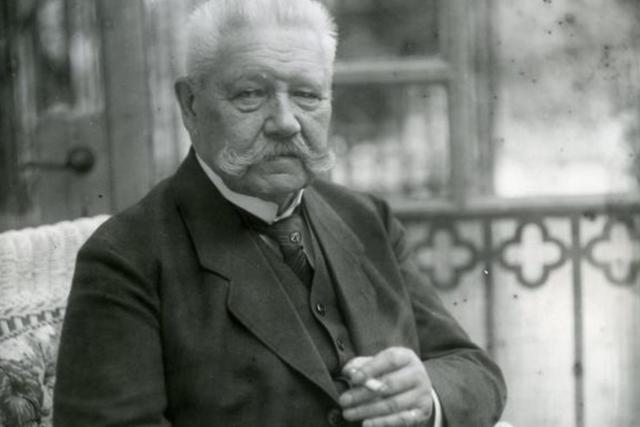 : Reichspräsident Paul von Hindenburg 1928.