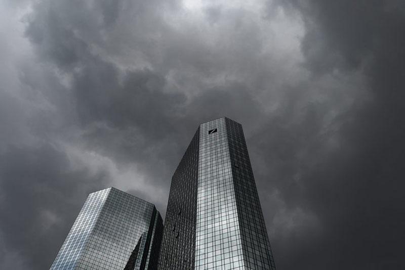 Europas gefährlichste Bank: Der Hauptsitz der Deutschen Bank in Frankfurt. Foto: Keystone