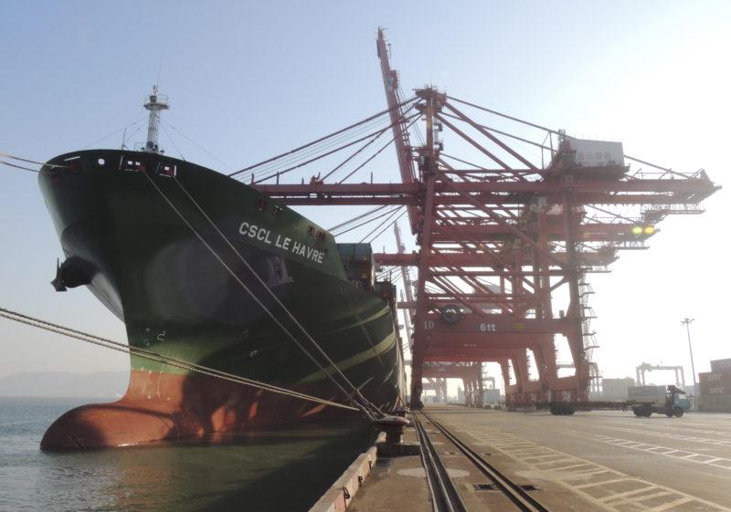 Der Klimawandel eröffnet neue Wege für den Welthandel: Frachter im chinesischen Lianyungang. Foto: Reuters