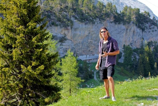 Sonne im Gemüt: Pesche Wüthrich, Idol des Schweizer Klettersports. (Foto: Adrian Stämpfli)