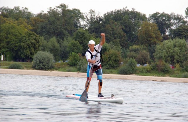 Chris Ley auf dem Rhein. (Foto: Chris Ley)