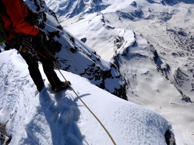 Auf dem Matterhorngipfel.
