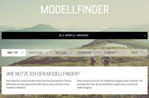 Biker sucht Bike – und findet Online-Tools wie dieses von Purecycling.