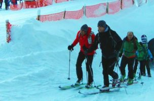Praktisches Training: Skitour am Pistenrand. Foto: skitourengehen.info