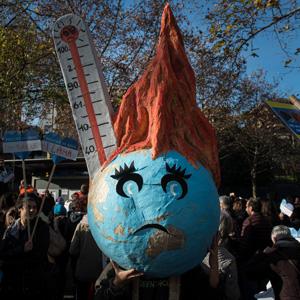 Traurige Realität: Klima-Protest in Lugano. (Keystone)