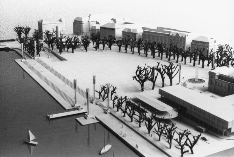 Venedig lässt grüssen: Willi Walters Modell eines verkehrsfreien Sechseläutenplatzes von 1988. Foto: Keystone