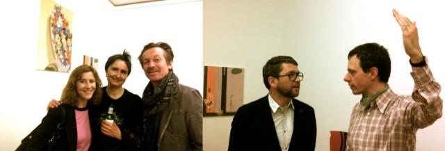 Fotografin Claudia Luperto, die Frau des Künstlers, Ludmilla Sala-Etter, Architekt Peter Kunz (l.). Galerist Kilchmann mit Mario Sala (r.)
