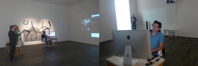 Skype-Performance von Miltos Manetas: Der Künstler ist «connected»