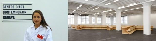 Aufsicht im MAI-Kittel, Struktur von Daniel Libeskind.