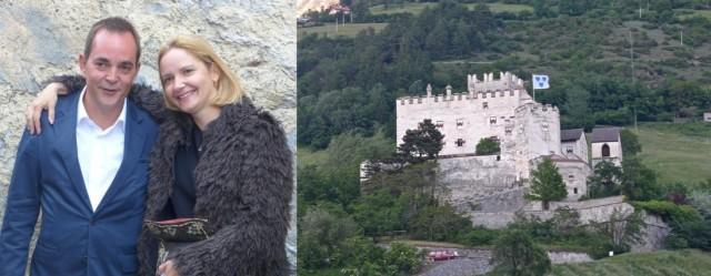Galerist Damian Grieder und die Künstlerin Melanie Grieder-Swarovski alias Melli Ink, die Churburg im Südtirol