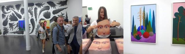 Party-Raum bei Gregor Staiger (im Vorderplan Raphael Gygax, Marie Lusa präsentiert die Publikation, Werke