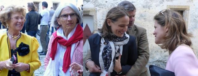 Cäcilie Gräfin Trapp mit Autorin Donna Leon, Sotheby's Direktorin Nadine Steger-Grisemer