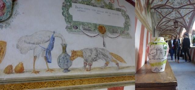 Ornament des Burg-Kreuzgangs, Inks Keramik aus der Serie «Coira»
