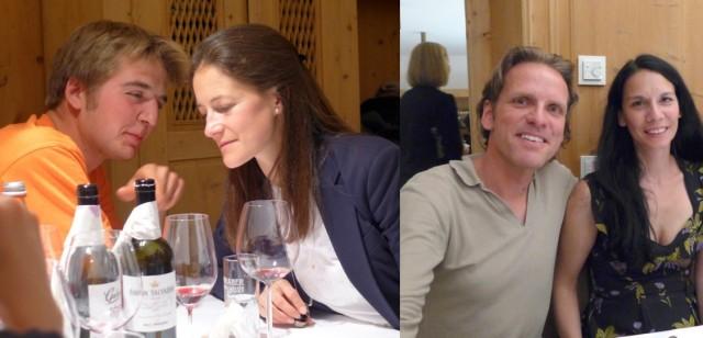 «Jojo» Gräfin Trapp mit XY, St.Moritz-Galerist Stefan Hildebrandt