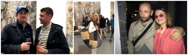 Schweizer mischen sich in Europa ein: Künstler Kaspar Müller, Kurator Fredi Fischli, Galeristin Karolina Dankow, norwegische Künstlerkollegen Ignas Krunglevicius und Tori Wranes