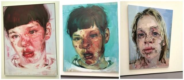Jenny Saville, Porträts aus den Serien «Red Stare», «Stare» und «Bleach»