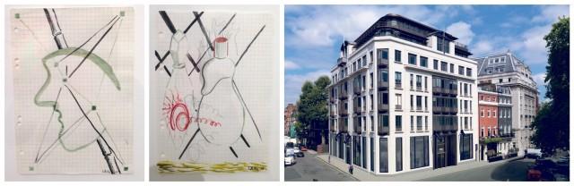 Zwei wunderbare Zeichnungen Polkes bei Phillips, das neue Phillips-Headquarters am Berkeley Square