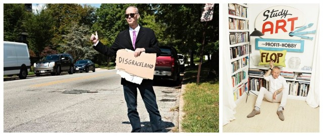 John Waters beim Autostoppen quer durch Amerika, wovon sein letztes Buch «Carsick» erzählt, in den USA ein Bestseller