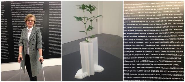 Margarethe von Bartha, Vasen in Form von Banken (die Pflanze, die darin wächst... kennt man), alle die bekifften Bankenbankrotts