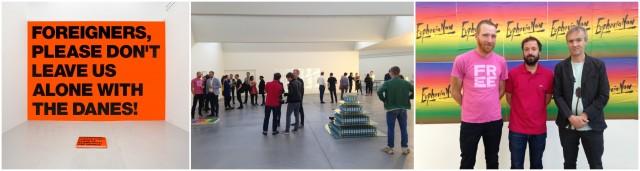 Die Dänen kommen: Superflex, ein Werk des Trios, Blick in die Galerie