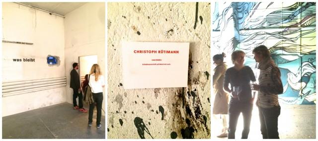«Was bleibt» - das Loch von Christoph Rütiman, Graffiti an der Wand gab es schon vorher