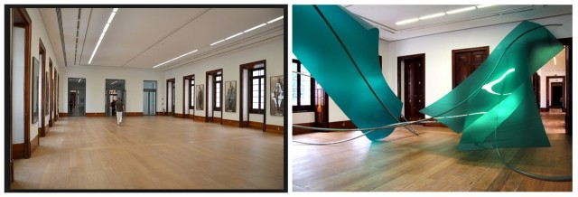 Casa Daros: Endlose Saalfluchten (links), Installation der Künstlerin Lole da Freitas