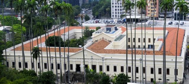 Ein Kulturhaus wie ein ganzes Kulturquartier: Casa Daros von oben