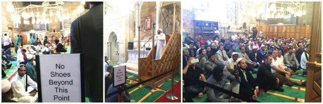 Schuhtrageverbot in «The Mosque», die erste islamische Predigt, die Gläubiger